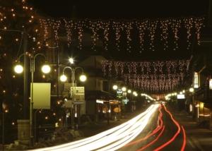 decori natalizi con  illuminazione svetla